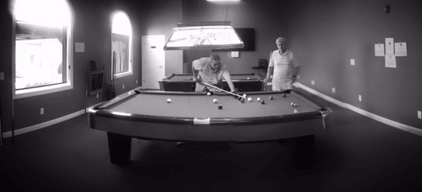 Playing Pool at Shallotte Senior Center