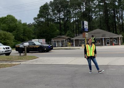 Curbside Pick Up Traffic Team (Officer Boynton & Deb C.)
