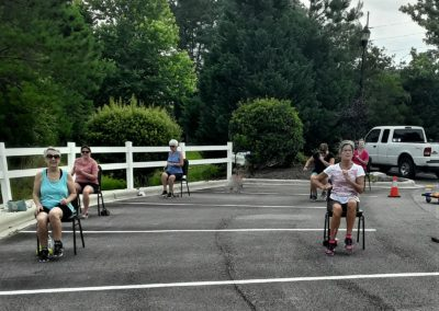 Exercise class outside